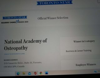 NAO chosen as best career training school in Toronto - 2020